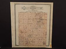 North Dakota Bottineau County Map Roland Township  1910 Q6#64