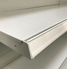 10 x Metal TEGO l100cm carril de Escáner Rieles Precios Estante pared gris claro