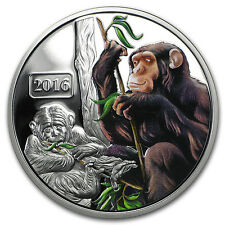 2016 Tokelau 1 oz Proof Silver Year of the Monkey Family (Color) - SKU #91583