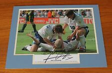 PAUL GAZZA GASCOIGNE England 1996 SIGNED 16x12 Photo Mount + COA Exact Proof