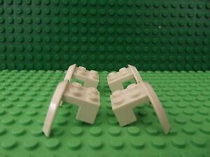 4 LEGO White Vehicle Car Truck Mudguard 4 x 2 1/2 x 2 Arch Round 50745 S001