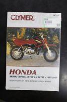 New Clymer Honda Service Manual XR50R XR70R CRF50F CRF70F 1997 - 2009  M319