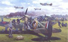 Supermarine Spitfire Hawker Hurricane Plane Blank Birthday Fathers Day Card