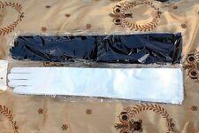 New Elbow Opera Length Satin Gloves Black or White Evening Wear Elegant Bridal
