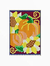 PUMPKINS AND SUNFLOWERS BEADED BANNER PATTERN