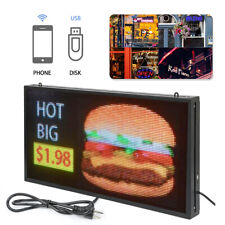 "Full Color 27""x 14"" P5 Led Sign Programmable Scrolling Message Display"