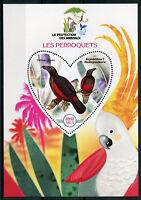 Madagascar 2017 MNH Parrots 1v S/S Perroquets Parrot Bird Birds Stamps