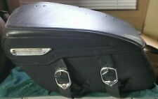 Harley Davidson Leather Covered Hard Saddlebags Off Of An '09 FLHR RoadKing