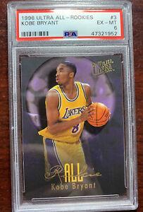 Kobe Bryant 1996-97 Fleer Ultra All Rookie RC #3 Lakers Rare PSA 6 PMJS 52