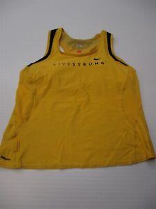 NIKE Tank Top Woman's Size XL FIT DRY Yellow/Black