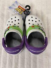 NEW Disney Pixar Toy Story Buzz Lightyear Crocs Clogs Classic Size Youth C6 NWT