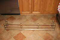Antique Victorian Style Fireplace Skirt Surround Braided Metal Rods Large Brass