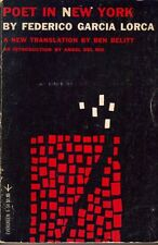 Poet in New York by Federico Garcia Lorca Spanish with English translation 1977
