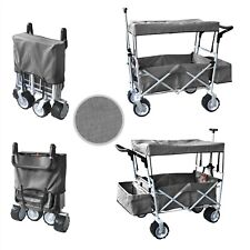 Gray Road All Terrain Tires Folding Stroller Wagon Canopy Buggy Wheel Cooler bag