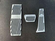 3pcs Metal AC SCHNIZER Logo Pedal Pad Set Brake Clutch Accelerator Gas