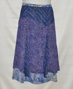 Koos of Course Reversible Printed Skirt Size 12 Navy