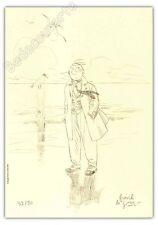 Ex-libris Le Gall Théodore Poussin La plage 50ex signé 21x29,7