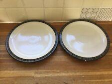More details for denby - jet stripes dinner plates x2.