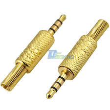 "Pro Gold Plated 3.5MM 1/8"" 4 Pole 4Way TRRS Stereo Male Plug Audio Cable Adapter"