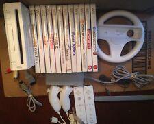 Nintendo Wii Bundle Just Dance 1 & 2 Nunchucks Controllers Games