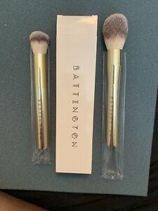 Battington Gold Contour and Powder Brush Set NIB MSRP $90.00**