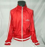 Budweiser Beer Red Full Zip Track Jacket Mens XL Spell out