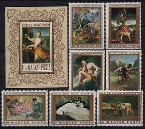 938 Hungary 1969 Paintings set + block MNH