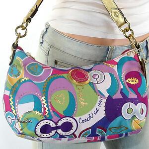 NEW Coach Poppy Pop C Signature Shoulder Bag Crossbody Swingpack  F19426 RARE