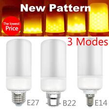 E27 E14 B22 LED Burning Light Flicker Flame Lamp Bulb Fire Effect Decorative U