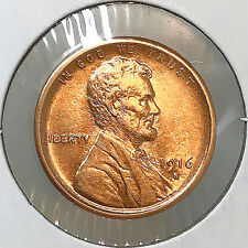 1916 S Lincoln Wheat Cent - Gem BU / MS RD / UNC     *****