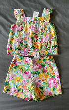 Toddler Girl 18-24 Month Janie and Jack Multicolor Floral Top & Shorts Set