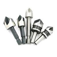 5 piezas de Juego de brocas avellanador industriales de 5 flautas para Madera Ch