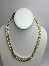 Michael Kors Gold-tone Pearl Links 3 in 1 Long Necklace MKJ6979710