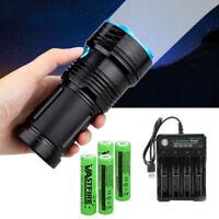 45000LM 12 x XM-L T6 LED 3 Modes Flashlight Torch 4 x 18650 Hunting Lamp Light