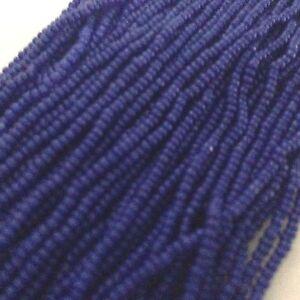 13/0 Navy Cobalt (Navy Opaque Czech Glass Bead Charlotte Preciosa True Cut, #265