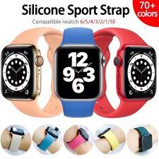 Cinturino silicone per orologio apple watch SE 1 2 3 4 5 6 misura 38 40 42 44 mm