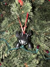 Custom Dreamworks How to Train Your Dragon Toothless Christmas Ornament CROUCHED