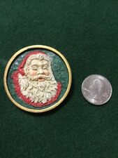 Santa Pin Brooch With Back Very Unique