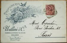Perfume 1899 Advertising Postcard: Milano / Milan, Italy - 'Profumeria Satinine'