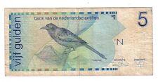 Antille Olandesi  5 gulden   1986  BB Good    pick 22a   lotto 130