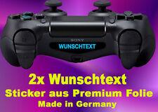 2× individuelle Wunschtext Sticker Lightbar Aufkleber PS4 Controller LED