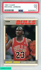 1987 FLEER MICHAEL JORDAN #59 CHICAGO BULLS GOAT HOF PSA 7 NM