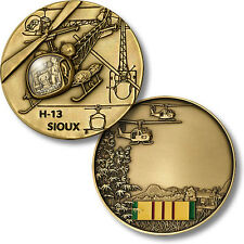 U.S. Army / Bell H-13 Sioux Helicopter - Vietnam Veteran Challenge Coin