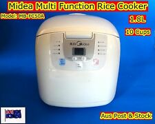 Midea Deluxe Fuzzy Logic Multi Functions Rice Cooker, Keep Warm MBFC50A 10cups