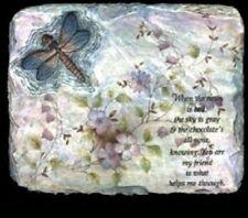 Dragon Fly Stone Plaque Unpainted, You Paint Ceramic Bisque