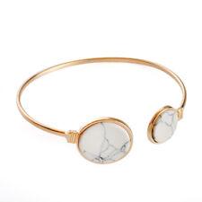 Hot Fashion Marble Pattern Gold Plated Charm Bracelet Cuff Bangle Jewelry Gift