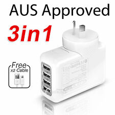 4 Ports USB Wall AC Charger Adapter for Samsung Nokia Microsoft LG HTC Moto