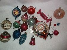 VINTAGE SMALL LOT OF MERCURY ORNAMENTS / VARIOUS CONDITIONS