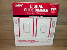 Feit Digital Slide Dimmer 3-Way LED Rocker 2-Pack of Switches  ***NEW***