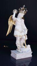Statua di San Michele Arcangelo in resina, bianco e oro 27cm